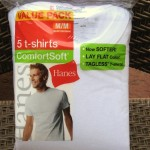 Undershirt Review – Hanes Lay Flat Collar – ComfortSoft