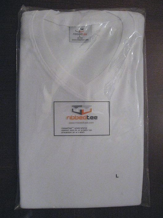RibbedTee Undershirt - Package of 2 - White - Vneck