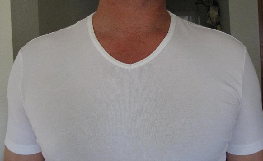 Undershirt review jockey 3 d innovations high v neck t for Jockey v neck shirt