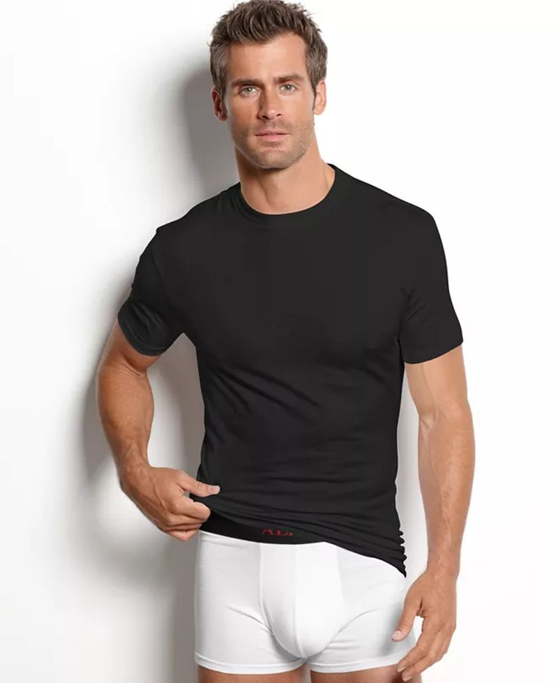 Alfani stretch tight neck undershirt