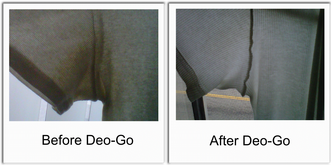 Before and after Deo Go.