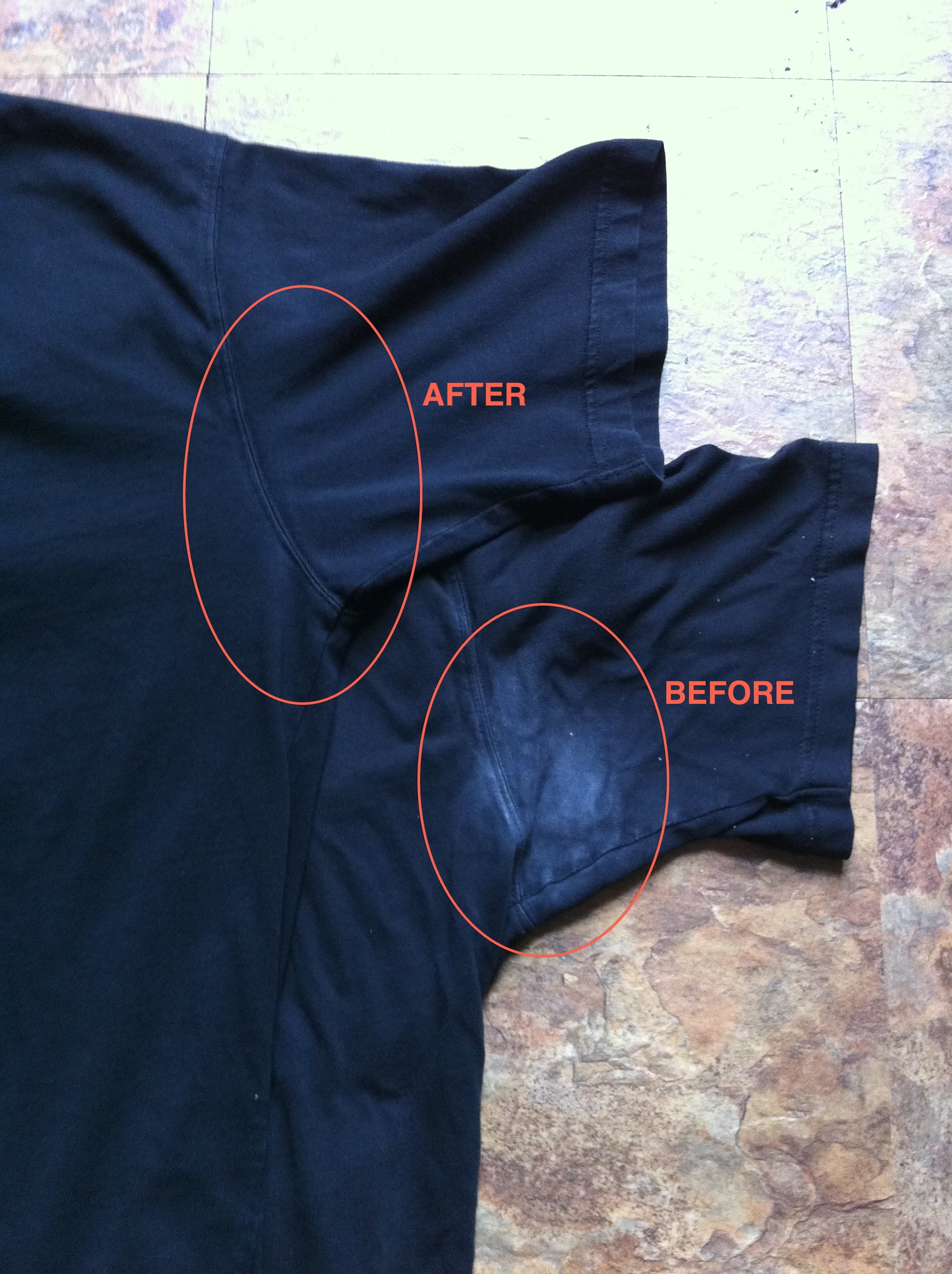 Yellow Sweat Stain Removal