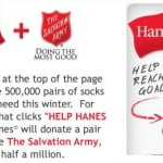 Hanes Helping to Donate 500,000 Socks to The Salvation Army (Video)