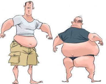 Fat guys: The sausage effect