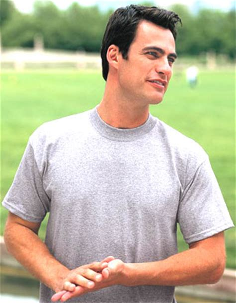 example of a tight neck 50/50 t-shirt from JERZEES