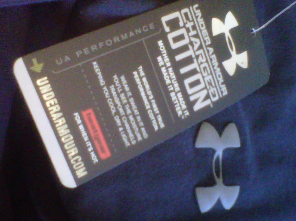 Under Armour Charged Cotton - Performance Cotton - Hang tag
