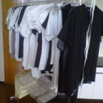 Tug's Undershirt Collection (Photo). Guess How Many Are Hanging Here?