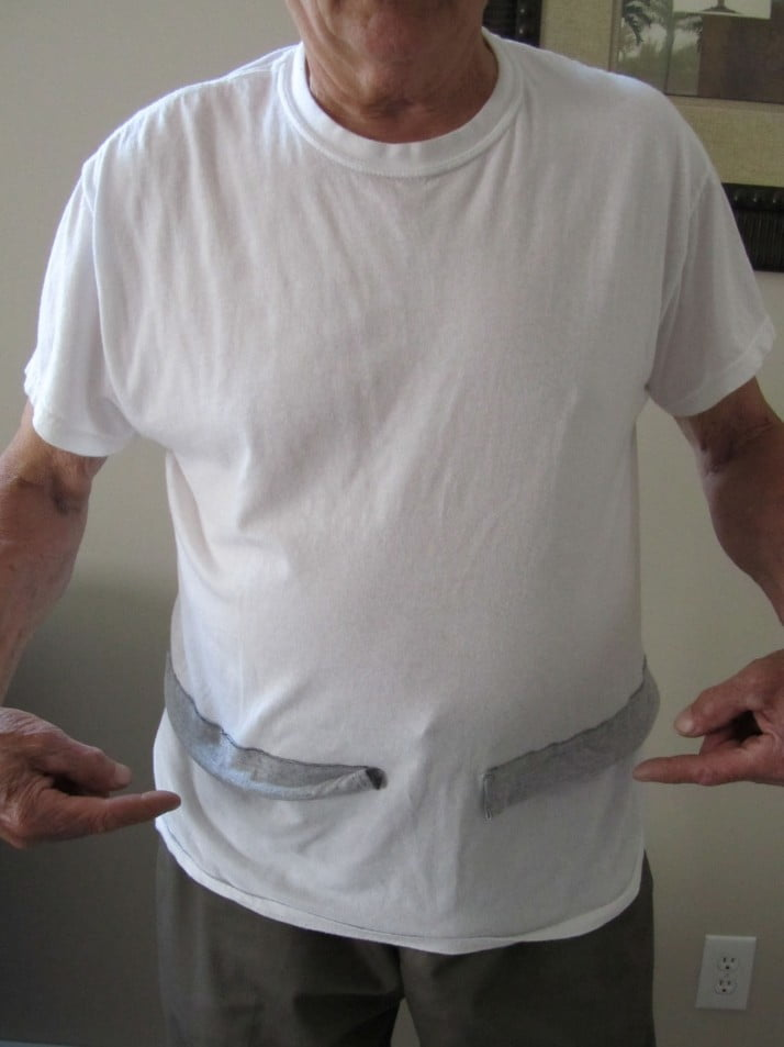 undershirt that keep pants up with belt
