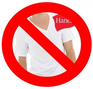 One guy over at Badger & Blade said that he was done with Hanes undershirts a while ago.