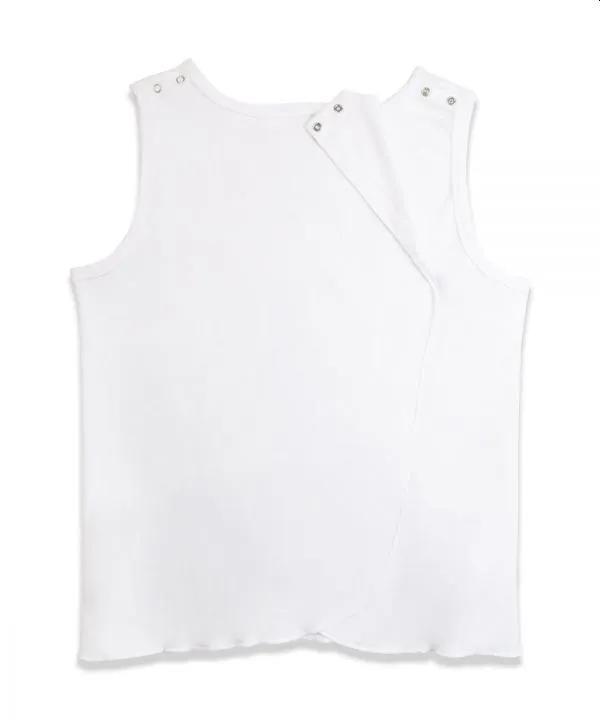 adaptive cotton sleeveless undershirt with snaps