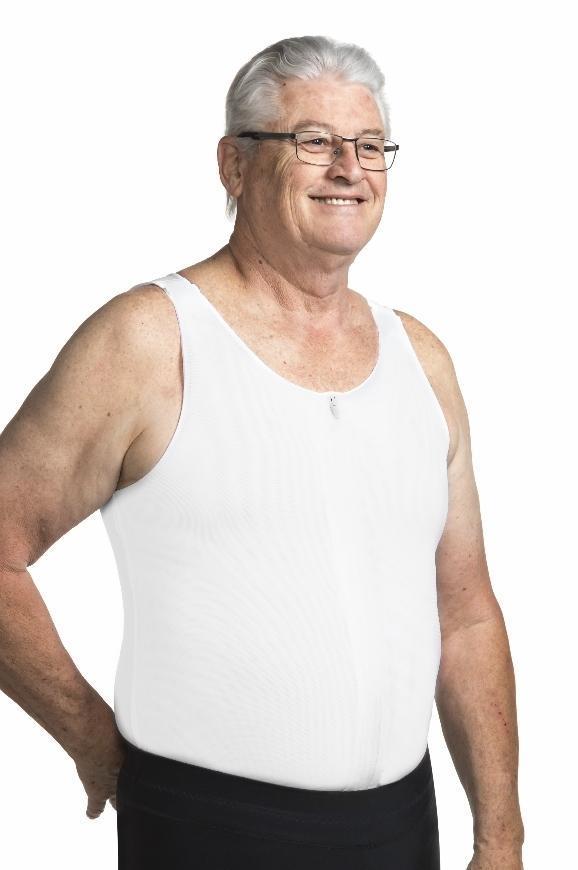 adaptive tank top undershirt with front zipper
