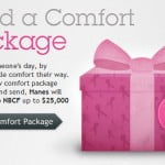 "Hanes ""Send A Comfort Package"" Virtual Gift Facebook App Benefits National Breast Cancer Foundation"