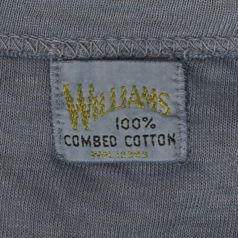 Williams brand care label | grey henley