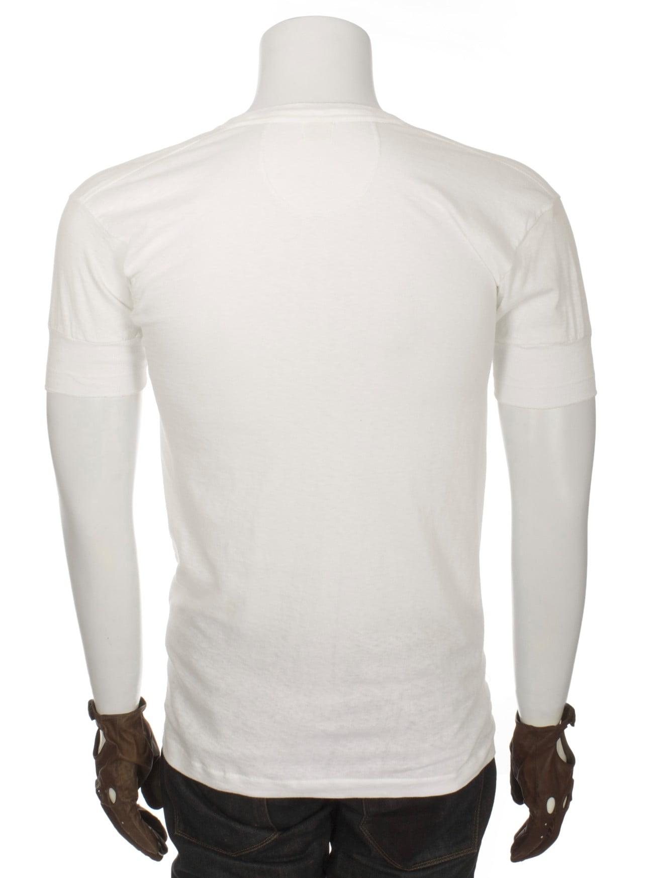 A photo of a Henley shirt.