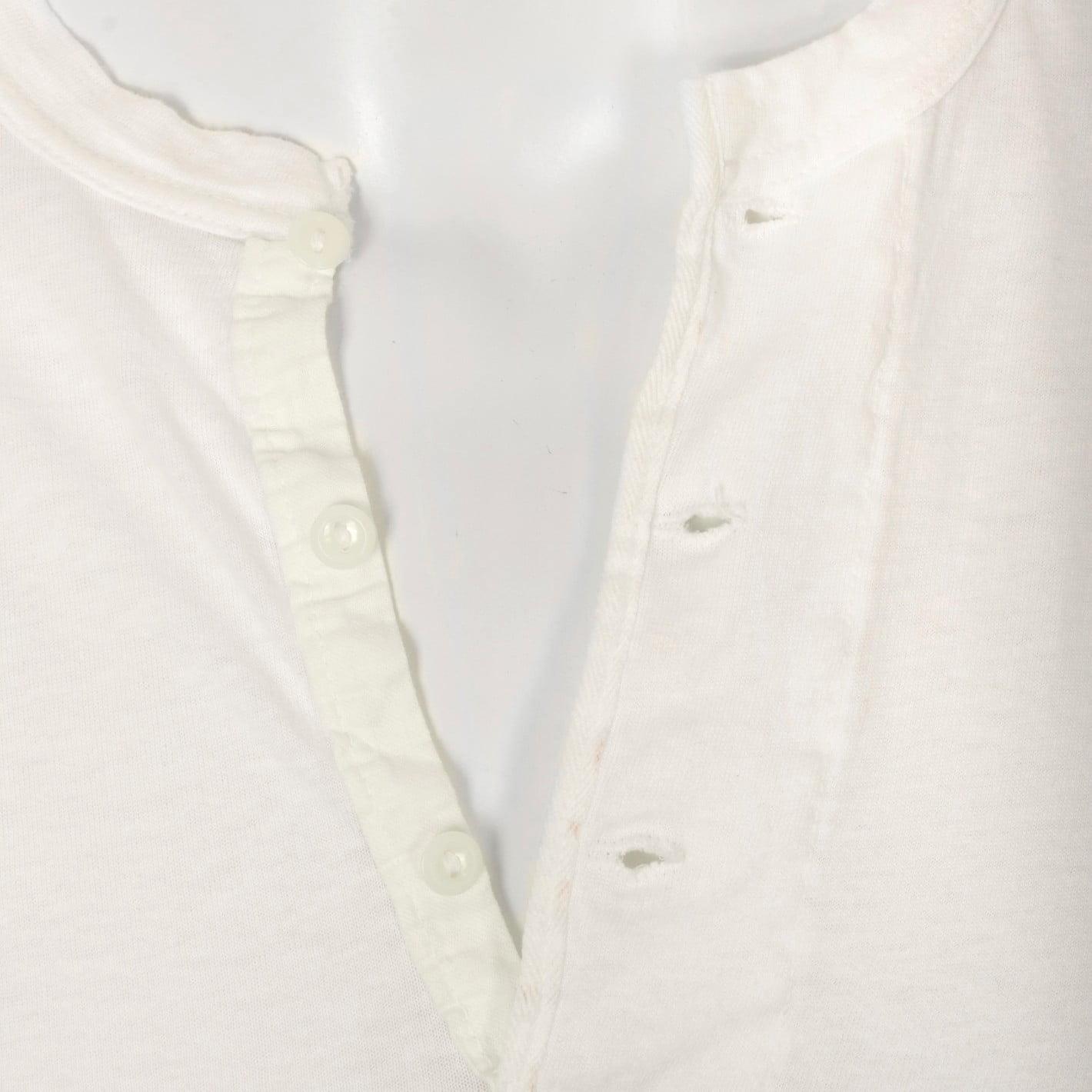 Close-up Henley shirt collar