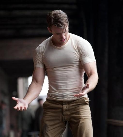 white t-shirt worn by chris evans captain america first avenger
