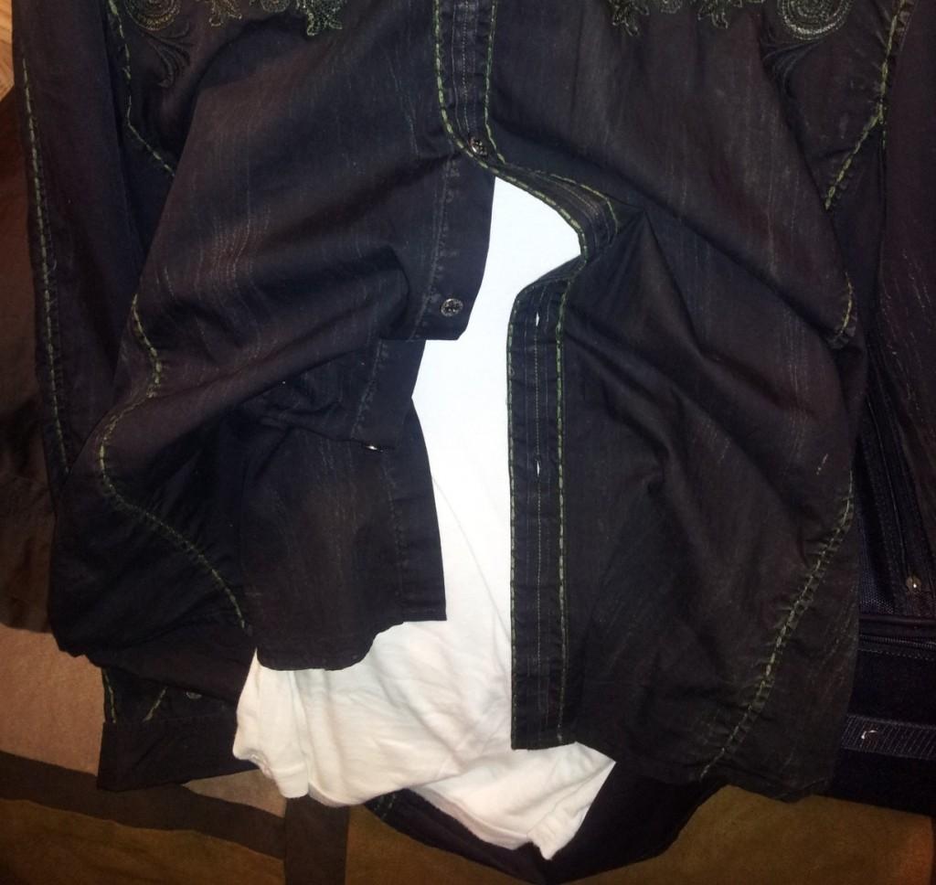 undershirts sticking to dress shirt
