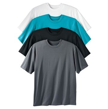 Performance Wicking Crewneck Tee by Kings' Court. From $14.99