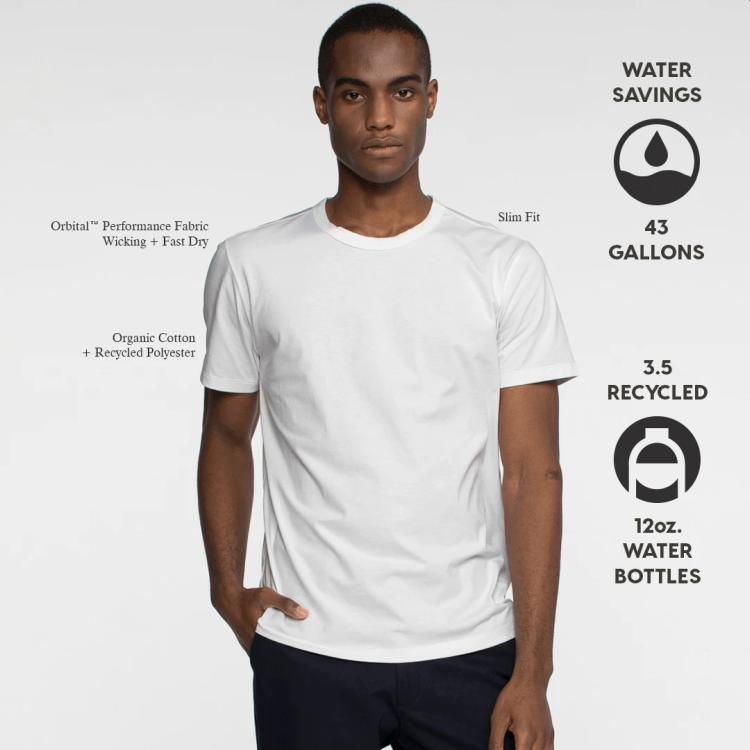 Tact & Stone Organic Cotton + Recycled Polyester T-shirt