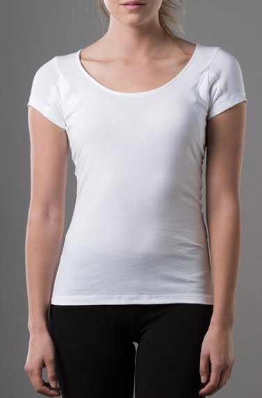 Thomson tee launches women 39 s hydro shield sweat through for How to not sweat through a shirt