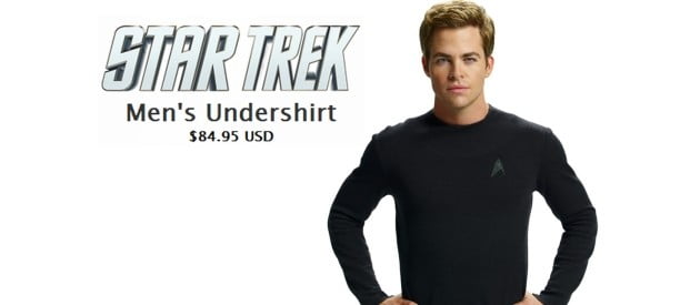 Star Trek Mens Starfleet Long Sleeve Undershirt (Worn by Chris Pine)