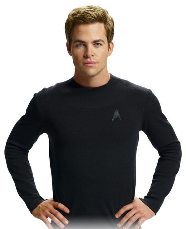 Star Trek Mens Starfleet Long Sleeve Undershirt (Worn by Chris Pine ... 42fa272ab8c