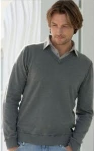 Best style undershirt to wear under a v neck sweater for Crew neck sweater with collared shirt