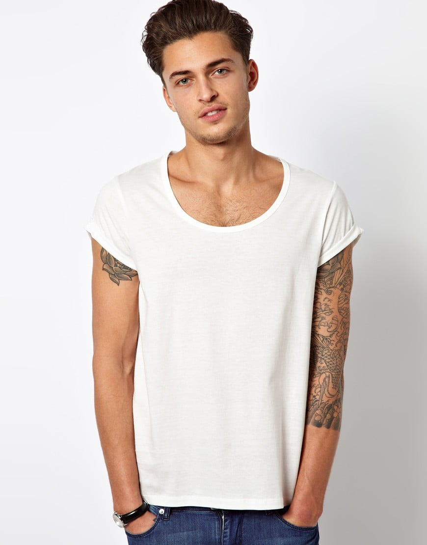 ASOS T-Shirt With Bound Scoop Neck And Roll Sleeve. Was Ryan Gosling Wearing this T-shirt in Only God Forgives?