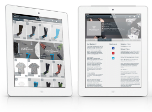 Orchid's iPad App - Showing Mack Weldon products.