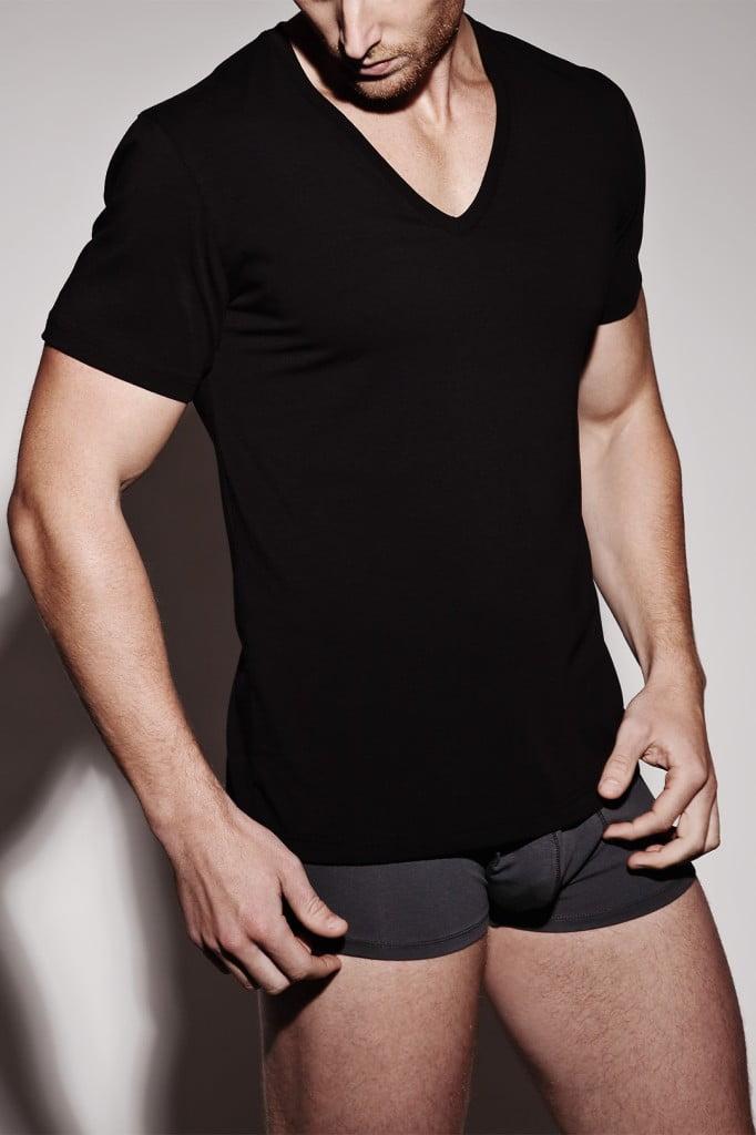 Naked black v-neck undershirt