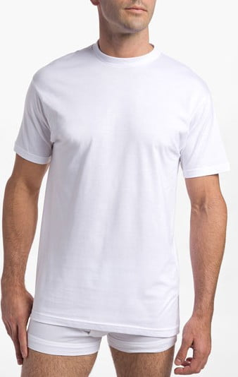Nordstrom Classic Fit Supima Crew Neck Undershirt - with Tight Collar