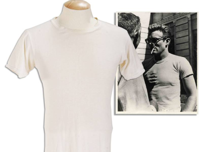 james dean white t-shirt