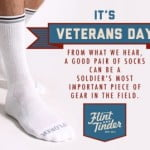 Flint & Tinder Offers Free Socks to Military on Veteran's Day