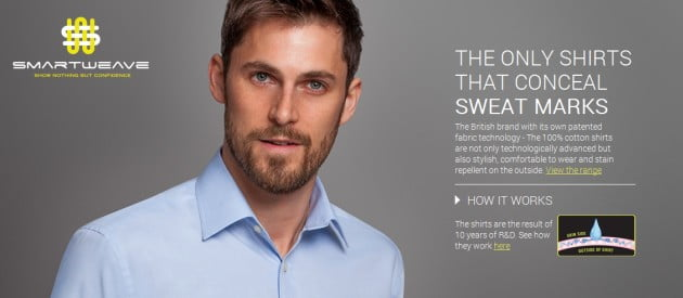 Smartweave sweat mark concealing shirts undershirt guy blog for How to prevent sweat marks on shirts