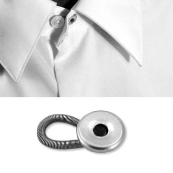 Try using a collar extender instead of stretching out a shirt collar