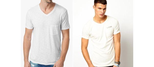 White V-Neck T-Shirts With Pockets?