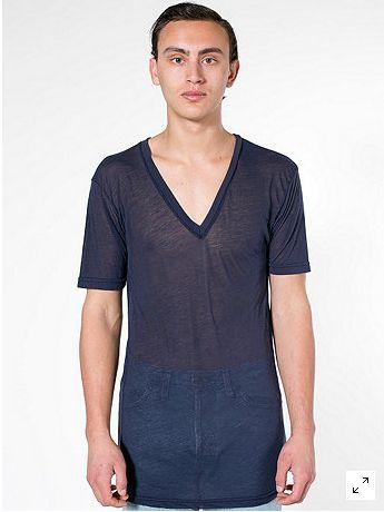 Semi see through sheer undershirt undershirt guy blog for American apparel mesh shirt