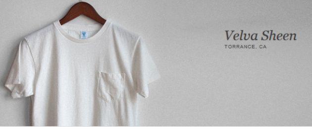 Velva Sheen Crew Neck Pocket T-Shirts