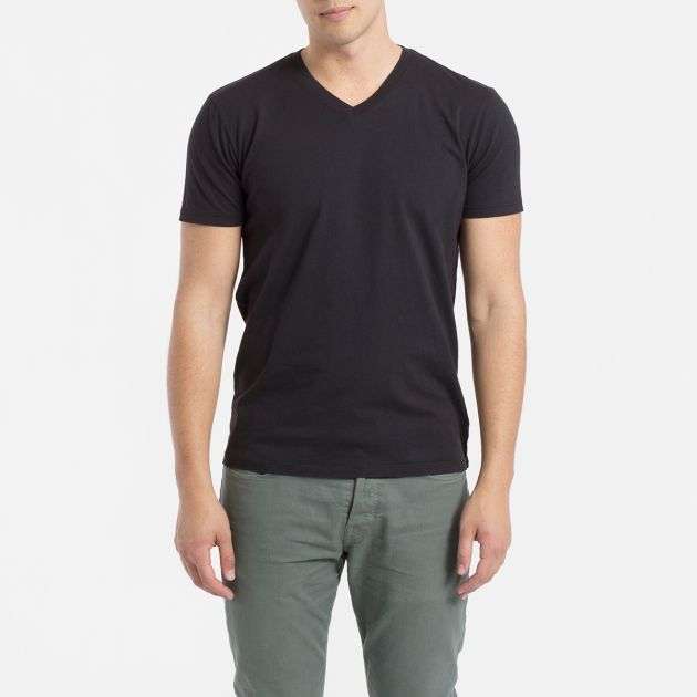 Black V-Neck T-Shirt from Everlane