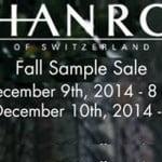 HANRO Sample Sale in New York City (12/9 – 12/10)