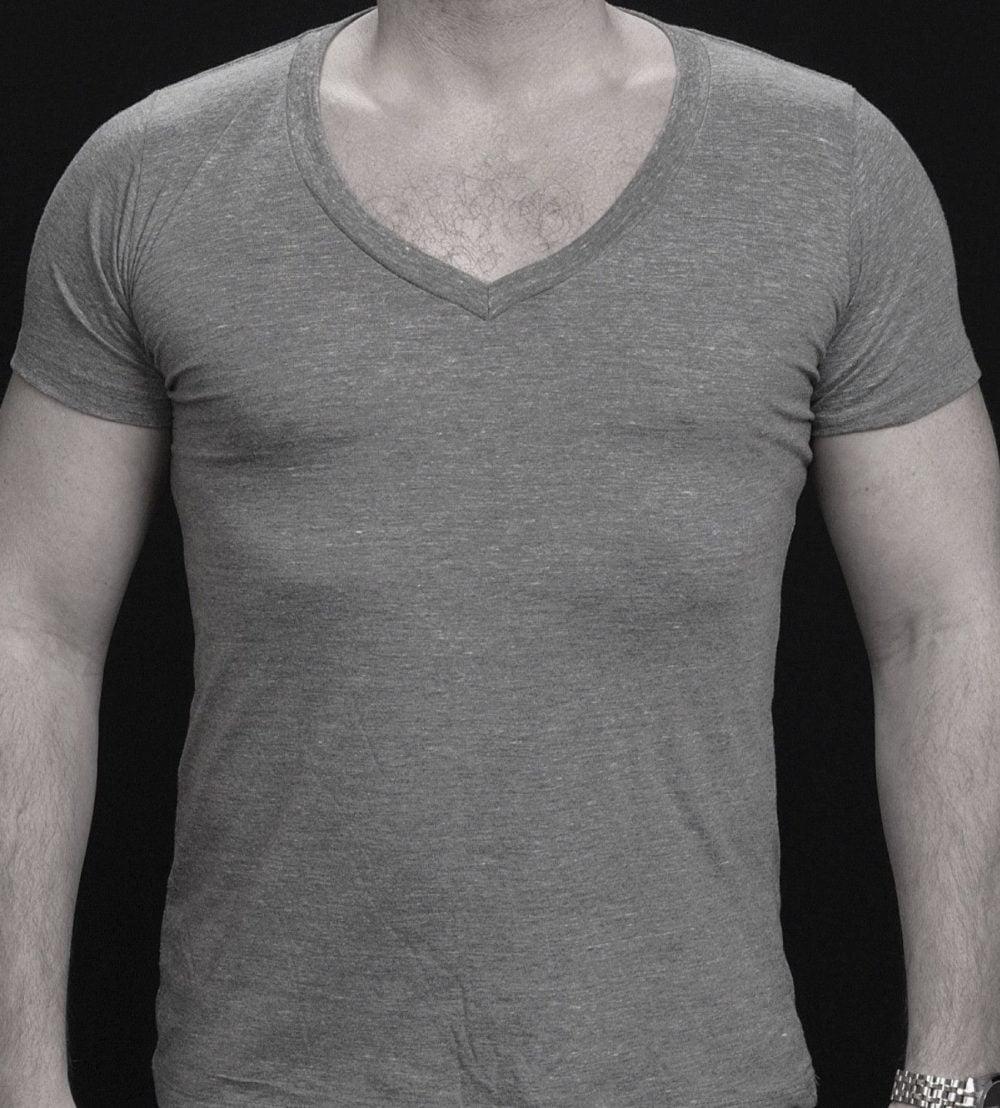 The Stealth Undershirt | Deep V-Neck Undershirt | Heather Grey