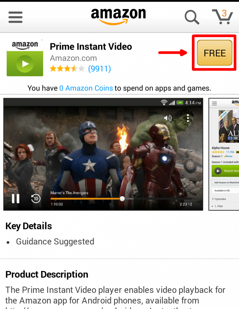 Step 6: Click FREE button to continue