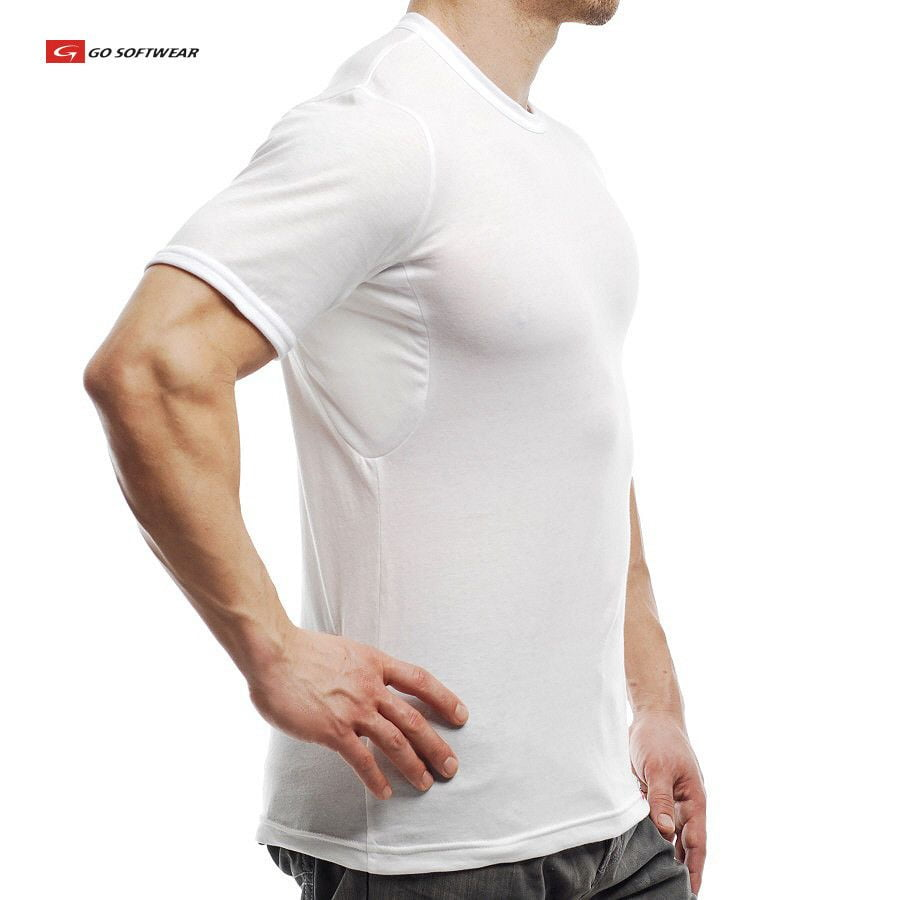 Go softwear no sweat tee undershirt guy blog for How to not sweat through a shirt