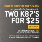 Carhartt Tight Neck Crew. Two for $25 Father's Day Sale