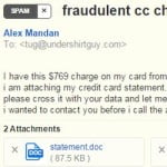 SPAM EMAIL ALERT: Fraudulent CC Charge From YourDomain.com (Virus)