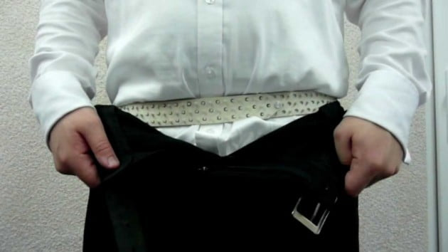 how to keep your belt in place