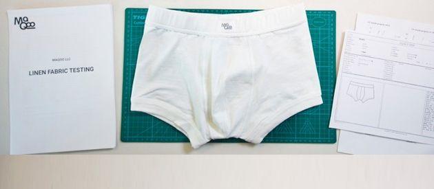 Maqoo: Linen Knit Underwear Boxer Briefs With Stretch