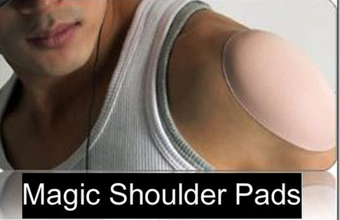 magic shoulder pads - stick directly to your skin