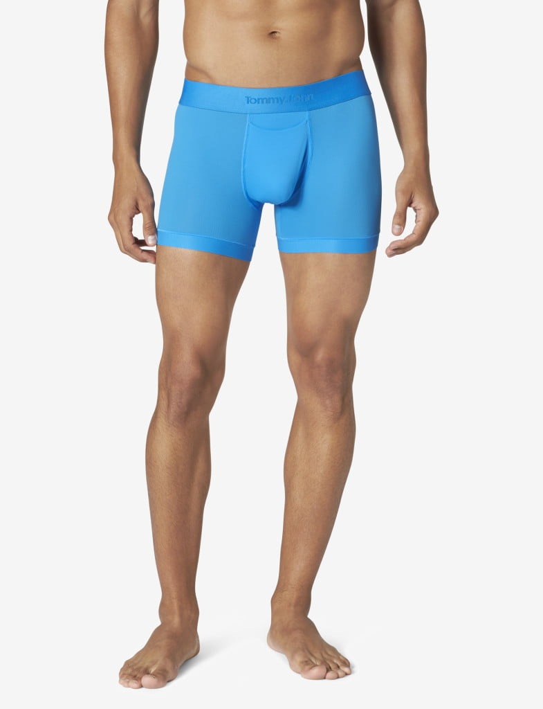 tommy-john-air-blue-boxer-briefs-on-model