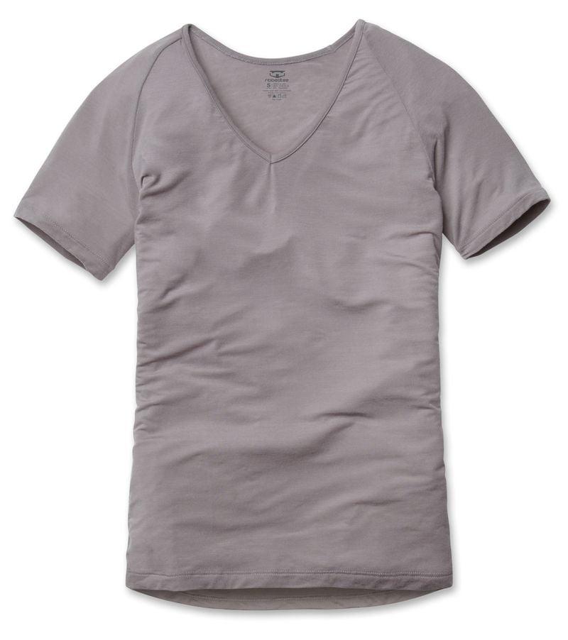 RibbedTee-EVO-RAGLAN-Grey-V-Neck-Undershirt